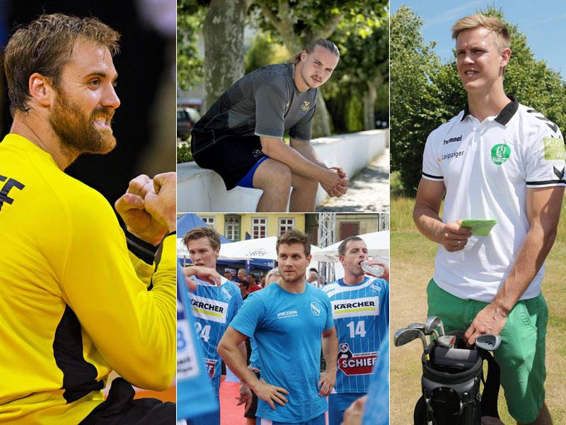 Neue Arbeitgeber in der Bundesliga: Andreas Wolff, Lukas Nilsson, Michael Kraus und Niclas Pieczkowski haben gewechselt.