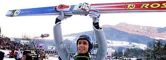Historisch! Sven Hannawald gewann 2001/02 alle vier Springen.