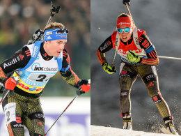 Simon Schempp und Laura Dahlmeier