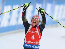 Entschied das Verfolgungsrennen erst auf der Schlussrunde für sich: Laura Dahlmeier.