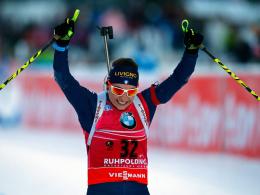 Blieb im Einzel fehlerfrei und freute sich im Ziel über Platz eins: Dorothea Wierer.