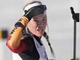 Gewehr bei Fuß: Miriam Gössner landete in Antholz auf dem zehnten Rang.
