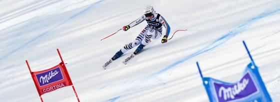 Fuhr in Cortina d'Ampezzo aufs Podest: Viktoria Rebensburg.