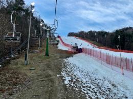 Zu hohe Temperaturen und Regen: Der Slalom der Damen in Maribor wurde abgebrochen.