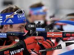 Schlussläufer Simon Schempp ließ nichts mehr anbrennen: Deutschland gewann die Mixed-Staffel in Canmore.