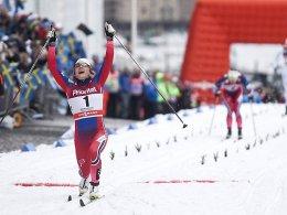 Siegerin des Sprints in Stockholm: die Norwegerin Maiken Caspersen Falla.