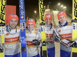 Zu stark für die Konkurrenz: das norwegische Skispringer-Team.