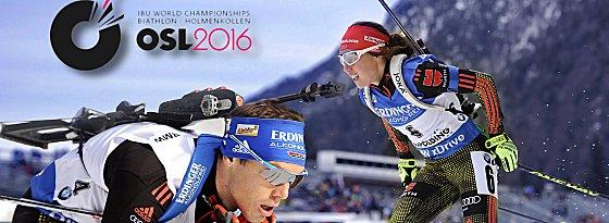 Laura Dahlmeier (re.) und Simon Schempp (li.)