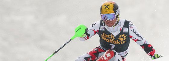 Marcel Hirscher gewann in Kranjska Gora, die Slalom-Kugel geht aber an Henrik Kristoffersen.