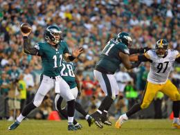 Rookie Wentz verpasst den Steelers eine Abreibung