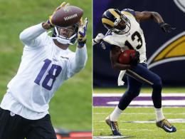 NFL sperrt Receiver Floyd und Thomas