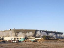 Sprengungsversuch: Der Silverdome will nicht fallen