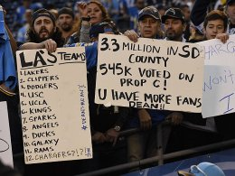 Klare Botschaft: Chargers-Fans verbrennen Fanartikel