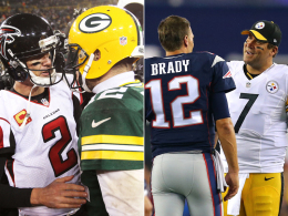 Ryan vs. Rodgers und Brady vs. Roethlisberger