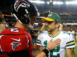 Quarterback-Showdown 2.0 mit Ryan und Rodgers