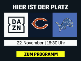 Detroit vs. Chicago: Die NFL live bei DAZN