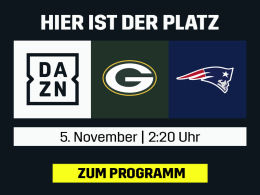 Green Bay vs. New England: Die NFL live bei DAZN