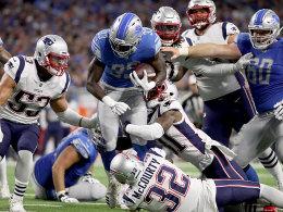 Detroit hat wieder einen 100-Yard-Läufer - Patriots im Tief