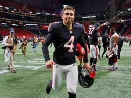 Falcons feiern ausgerechnet einen Kicker - Beckham trotzig
