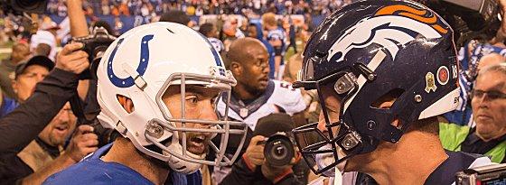 Andrew Luck und Peyton Manning