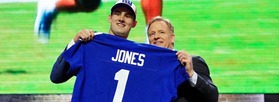 Quarterback Daniel Jones