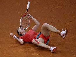 Andrea Petkovic verletzt sich am Donnerstag im Achtelfinale gegen Victoria Azarenka