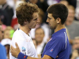 Andy Murray und Novak Djokovic (r.)