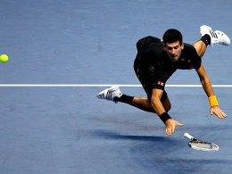 Nochmal alles gegeben im Saisonfinale und den zweiten Sieg in der Gruppenphase eingefahren: Novak Djokovic.