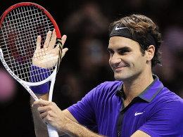 Roger Federer freut sich nach seinem Sieg über Andy Murray nun auf das Traumfinale gegen Novak Djokovic.