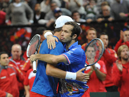 Radek Stepanek (re.) und Tomas Berdych