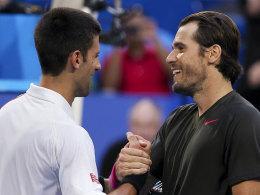 Djokovic und Haas (re.)