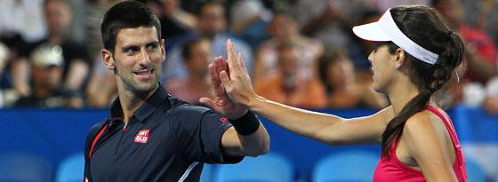 Das Heimturnier des Serben Novak Djokovic, hier mit seiner Landsfrau Ana Ivanovic, findet dieses Jahr nicht in Belgrad statt.
