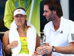Eine Runde weiter: Angelique Kerber im Gespräch mit Coach Torben Beltz.