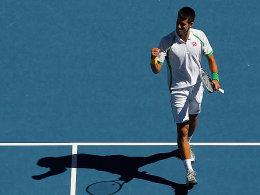 Durch in drei Sätzen: Novak Djokovic gab dem Franzosen Mathieu das Nachsehen.