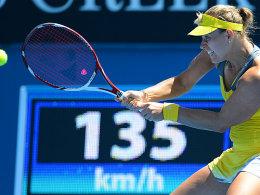 Return, aber kein Rückschlag: Angelique Kerber hat die zweite Turnierwoche in Melbourne fest im Blick.
