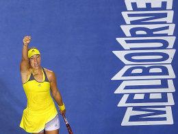 Steht erstmals in der zweiten Turnierwoche in Melbourne: Geburtstagskind Angelique Kerber.