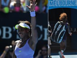 """Frust und Freude: Serena Williams beendete den """"Happy Slam"""" im Viertelfinale, Sloane Stephens zieht weiter."""