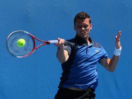 Debüt im Davis Cup - mit bitterem Ausgang: Tobias Kamke.