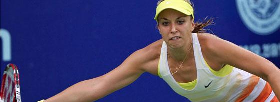 Sabine Lisicki spielt das erste Einzel des Fed-Cup-Duells gegen Frankreich.