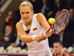 Sabine Lisicki machte den ersten Punkt für Deutschland gegen Frankreich.