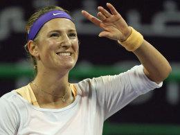 Nicht mher die Nummer ein, aber die Siegerin des Finals gegen Serean Williams: Victoria Azarenka.