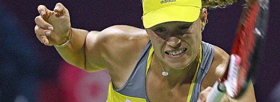 Zweisatz-Niederlage gegen Roberto Vinci in Dubai: Angelique Kerber.