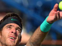 Coup in Indian Wells: Juan Martin del Potro schlug die Nummer 1, Novak Djokovic.