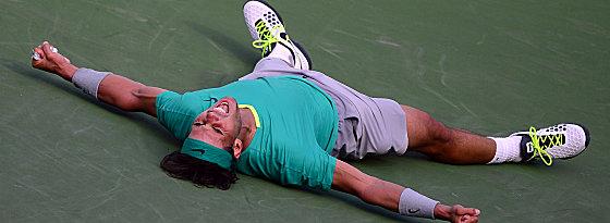 Moment purer Glückseligkeit: Rafael Nadal.