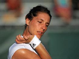 Andrea Petkovic hat in Miami eine neue Jubelgeste aufgelegt: Golfschlag a la Kaymer.