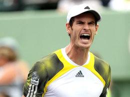Gut gebrüllt: Andy Murray setzte sich in seinem Match locker durch.