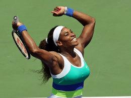 Serena Williams ließ Maria Sharapova im dritten Satz des Miami-Finales keinen Stich.