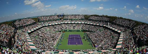 Beste Bedingungen für ein spannendes Endspiel: Der Centre Court in Miami.