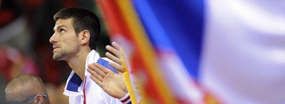 Hat richtig Lust mit seinem Team für Serbien zu spielen: Novak Djokovic trifft im Davis Cup auf die USA.