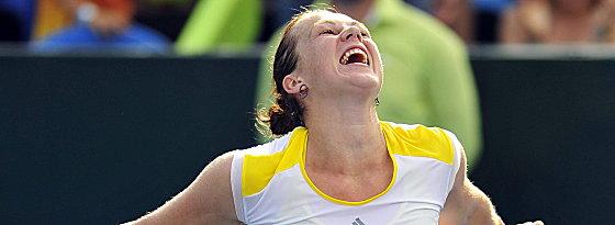 Glücksgefühle: Anasatasia Pavlyuchenkova bezwang Angelique Kerber im Finale von Monterrey.